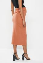 Glamorous - Maternity pencil skirt - faded rust