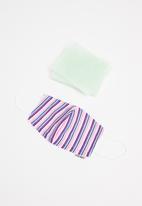 Jockey - Reuseable cotton mask + 5 filters - city stripe