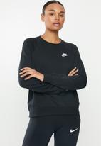 Nike - Nsw essential crew fleece - black