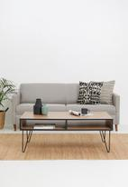 Sixth Floor - Penn leg coffee table - natural & black