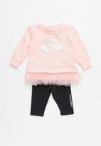 Converse - Converse girls tunic & legging set - pink & black