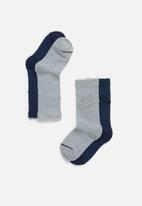 Nike - 2 Pack Nike loop futura crew socks - navy & grey