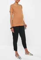 edit Maternity - Relaxed tummy band trouser - black