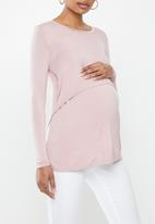 Cotton On - Maternity 2-in-1 long sleeve top - fragrant lilac