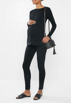 Cotton On - Maternity 2-in-1 long sleeve top - black