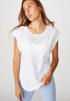 Cotton On - Active scoop hem T-shirt - white
