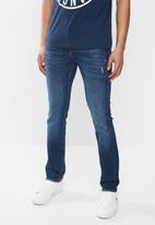 GUESS - Dark wash skinny jean - dark blue