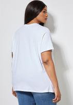 Superbalist - Printed face graphic tee - white