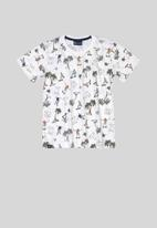 Quimby - Boys printed tee - white