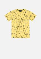 Quimby - Boys printed tee - yellow
