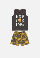 Bee Loop - Boys tank top & shorts set -  multi