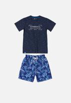 Quimby - T-shirt & shorts set - blue