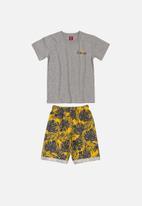Bee Loop - Bermuda shorts & tee set - multi