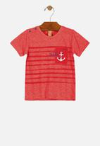 UP Baby - Boys stripe tee - red