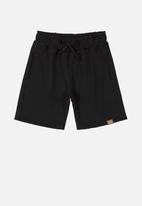 Quimby - Teen boys bermuda shorts - black