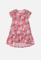 Quimby - Girls watermelon dress - pink