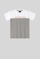 Quimby - Boys tee - white & grey