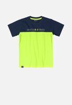 Quimby - Boys T-shirt - navy & green