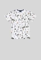 Quimby - Printed tee - white