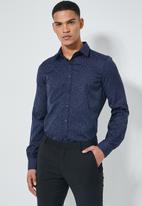 Superbalist - Jos slim fit long sleeve shirt - navy