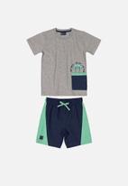 Quimby - T-shirt & shorts set - multi