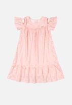 Quimby - Girls cut out shoulder dress - pink