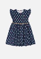 Quimby - Girls polka dot dress - multi