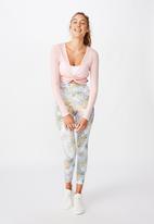 Cotton On - Twist long sleeve top -pink sherbet