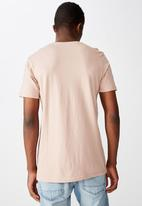 Cotton On - Essential crew tee - dirty pink