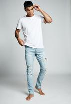 Cotton On - Slim fit jean  - ohio blue + rips