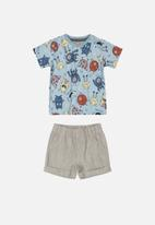 UP Baby - Bermuda shorts and tee set - multi