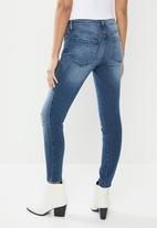 GUESS - Ripped fashion sexy curve jeans - blue