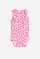 UP Baby - Polka dot bodysuit - pink