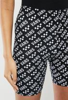 Vans - Brand striper bike shorts - black & white