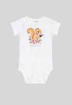 UP Baby - Girls printed bodysuit - white