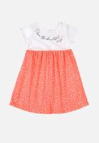 Bee Loop - Single jersey dress - white & pink