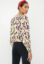 Glamorous - V-neck abstract spot blouse - multi