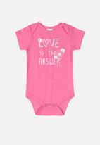 UP Baby - Girls printed bodysuit - pink