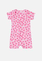 UP Baby - Polka dot romper - pink