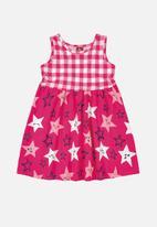 Bee Loop - Girls star print dress - pink