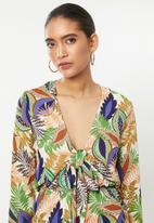 Glamorous - African leaf playsuit - multi