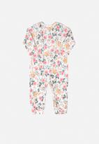 UP Baby - Girls floral long sleeve romper - multi