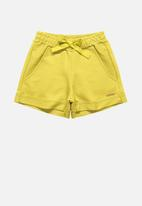 Quimby - Girls sweat shorts - yellow