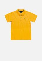Quimby - Boys polo shirt - dark yellow