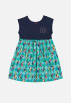 Bee Loop - Printed sleeveless dress - blue