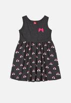 Bee Loop - Printed sleeveless dress - dark grey