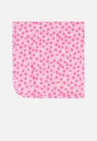 UP Baby - Polka dot blanket - pink