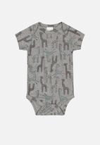 UP Baby - Boy short sleeve bodysuit - grey