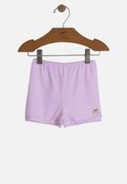 UP Baby - Girls cotton shorts - light purple
