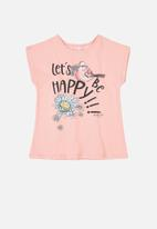 Quimby - Girls tank top - pink